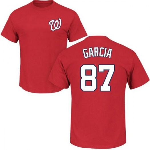 Luis Garcia Washington Nationals Youth Red Roster Name & Number T-Shirt -